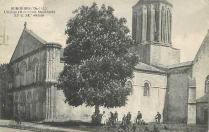 """CPA FRANCE 17 """" Surgères, L'église """""""