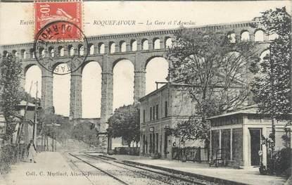 """CPA FRANCE 13 """" Roquefavour, La gare et l'aqueduc"""""""