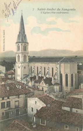 """CPA FRANCE 34 """"St André de Sangonis, L'église"""""""