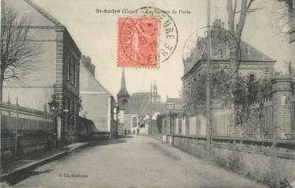 """CPA FRANCE 27 """" St André, Le Bureau de Poste"""""""