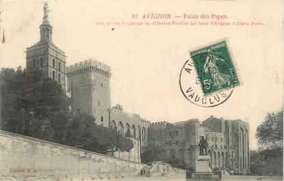 """CPA FRANCE 84 """" Avignon, Le Palais des Papes"""""""