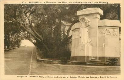 """CPA FRANCE 84 """" Avignon, Le monument aux morts"""""""