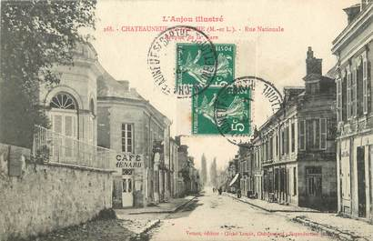 """CPA FRANCE 49 """"Chateauneuf sur Sarthe, Rue Nationale"""""""