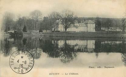 "CPA FRANCE 02 ""Ecuiry, le chateau"""