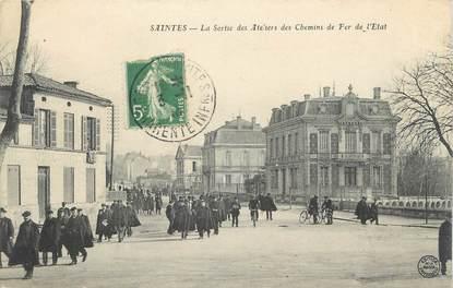 """CPA FRANCE 17"""" Saintes, La sortie des ateliers des chemins de fer de l'Etat"""""""