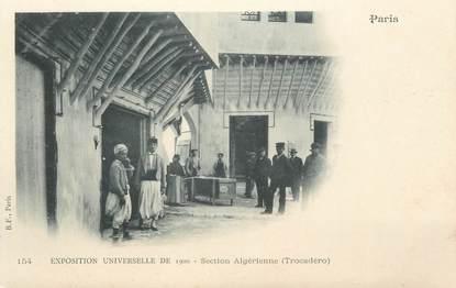 """CPA ALGERIE """" Exposition Universelle de 1900, Section Algérienne"""""""