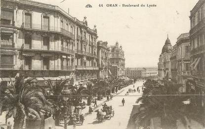 "CPA ALGERIE "" Oran, Boulevard du Lycée"""