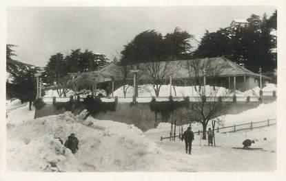 """CPSM ALGERIE """"Chrea sous la neige, Hôtel des Cèdres"""""""""""