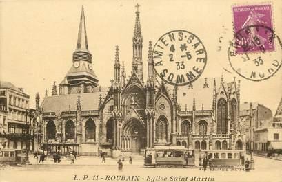 """CPA FRANCE 59 """"Roubaix, Eglise Saint Martin"""""""