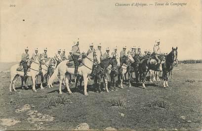 """CPA ALGERIE """"Chasseurs d'Afrique, tenue de campagne""""/ GEISER"""