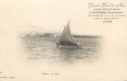 """CPA ALGERIE """"Alger, Le port"""" / GEISER"""