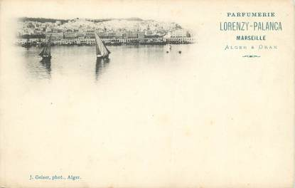 "CPA ALGERIE ""Alger, Parfumerie Lorenzy Palanca"" / GEISER"