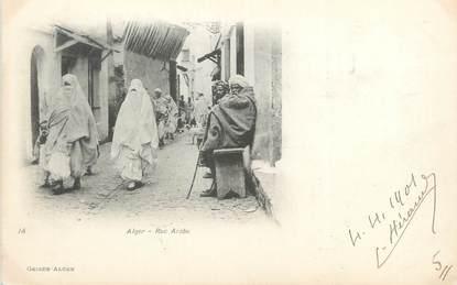 """CPA ALGERIE """"Alger, Rue Arabe"""" / GEISER"""