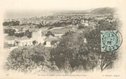 """CPA ALGERIE """"Alger, La Baie d'Alger prise de Mustapha Supérieur"""" / GEISER"""