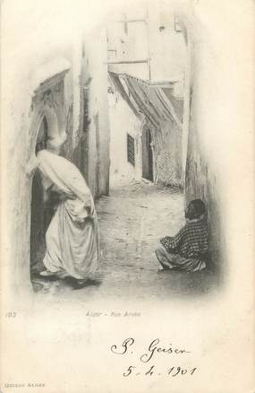 "CPA ALGERIE ""Alger, Une rue Arabe"" / GEISER"