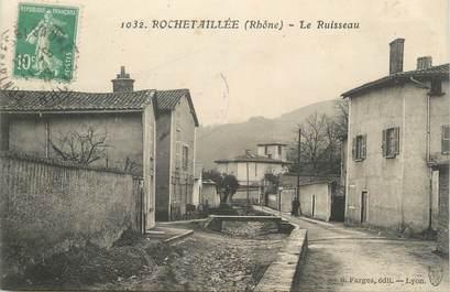 "CPA FRANCE 42 "" Rochetaillée, Le ruisseau"""