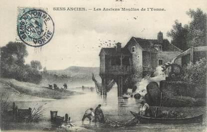 """CPA FRANCE 89 """" Sens, Les Anciens Moulins de l'Yonne"""""""