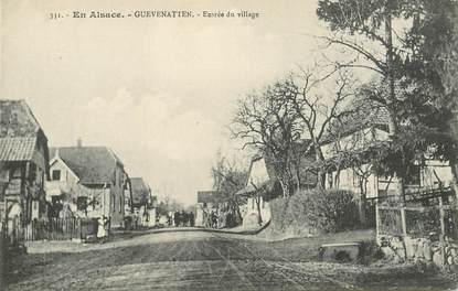 """CPA FRANCE 68 """"Guevenatten, entrée du village"""""""