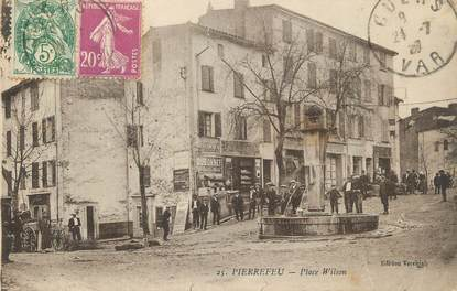 "CPA FRANCE 83 ""Pierrefeu, Place Wilson"""