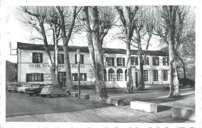 """CPSM FRANCE 83 """" Bras, Hôtel Restaurant Les Allées"""""""