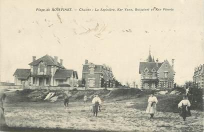 """CPA FRANCE 85 """"Plage de Boisvinet, chalets: la Sapinière..."""""""