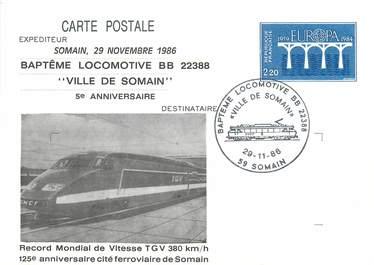 "CPSM FRANCE 59 "" Somain"" / TGV"