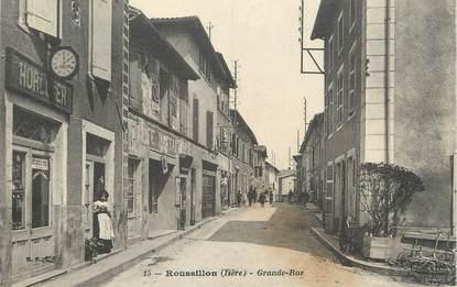 """CPA FRANCE 38 """" Roussillon, La Grande Rue"""""""