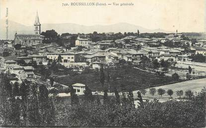 """CPA FRANCE 38 """" Roussillon, Vue générale """""""