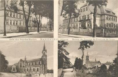 """CPA FRANCE 67 """"Haguenau, Marienthal, asile des sourdes Muettes et maison de Pension St François de Sales"""""""