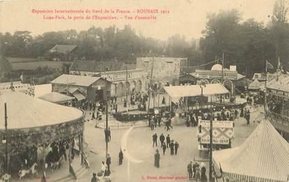 """CPA FRANCE 59 """"Roubaix, Exposition internationale du Nord de la France, 1911"""" / MANEGE"""