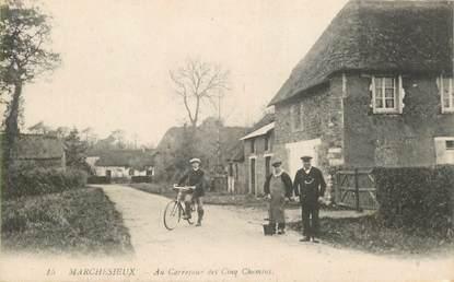 """CPA FRANCE 50 """"Marchesieux, au Carrefour des cinq Chemins"""""""