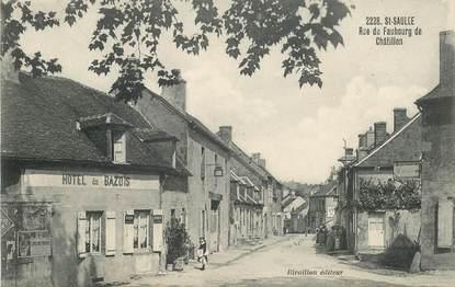 """CPA FRANCE 58 """"Saint Saulge, rue du Faubourg de Châtillon"""""""