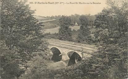 """CPA FRANCE 87 """"St Martin Le Mault, Le Pont St Martin sur la Benaize"""""""