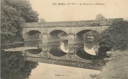 """CPA FRANCE 87 """"Mailhac, Le Pont sur la Benaize"""""""