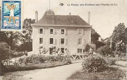"""CPA FRANCE 87 """"Le Ponty près de Oradour sur Vayres"""""""