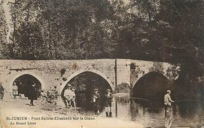 """CPA FRANCE 87 """"St Junien, Pont Elisabeth sur la Glane"""""""