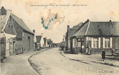 """CPA FRANCE 59 """"Saint Aubert, Place de l'Abreuvoir, rue du Marais"""""""