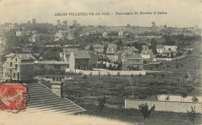 """CPA FRANCE 94 """"Ablon - Villeneuve le Roi, Panorama du Mortier d'Ablon"""""""