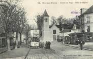 """94 Val De Marne CPA FRANCE 94 """" Bry sur Marne, Place de l'église"""" / TRAMWAY"""