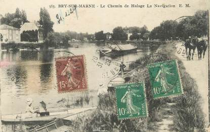 """CPA FRANCE 94 """" Bry sur Marne, Le Chemin de Halage"""""""