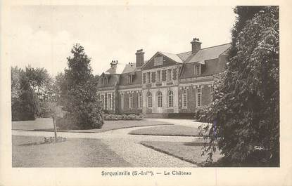 "CPA FRANCE 76 "" Sorquainville, Le château"""
