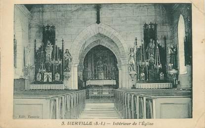 """CPA FRANCE 76 """"Sierville, Intérieur de l'église"""""""