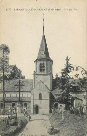 """CPA FRANCE 76 """"Saineville sur Seine, L'église"""""""