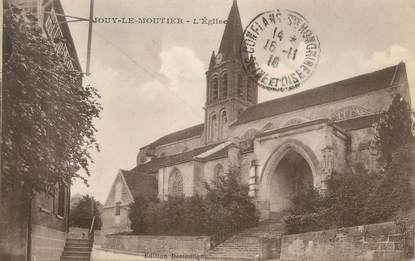 "CPA FRANCE 95 ""Jouy le Moutier, L'église"""