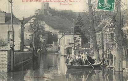 "CPA FRANCE 95 ""La Roche Guyon, Rue du Pont"" / IINONDATIONS DE 1910"