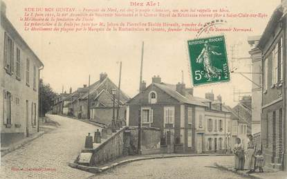 "CPA FRANCE 95 ""St Clair sur Epte, Rue du Roi Gustav"""