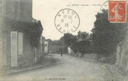"""CPA FRANCE 85 """"Nesmy, Une rue"""""""