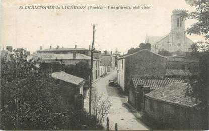 """CPA FRANCE 85 """"St Christophe de Ligneron, Vue générale"""""""