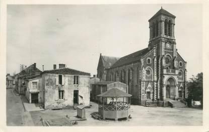 """CPSM FRANCE 85 """"Champ St Père, La place et l'église"""""""