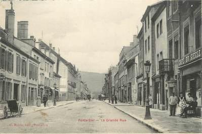 """CPA FRANCE 25 """" Pontarlier, La grande rue"""""""